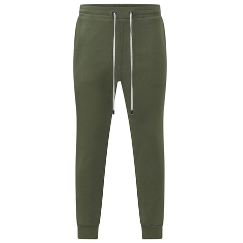 OLIVE GREEN JAPANESE LOOP WHEEL JOGGERS