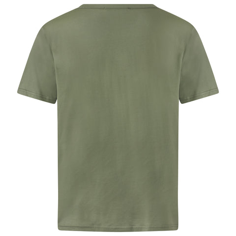 OLIVE GREEN EGYPTIAN COTTON T-SHIRT