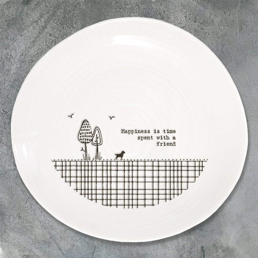 Happiness Is Time Spent With A Friend Plate