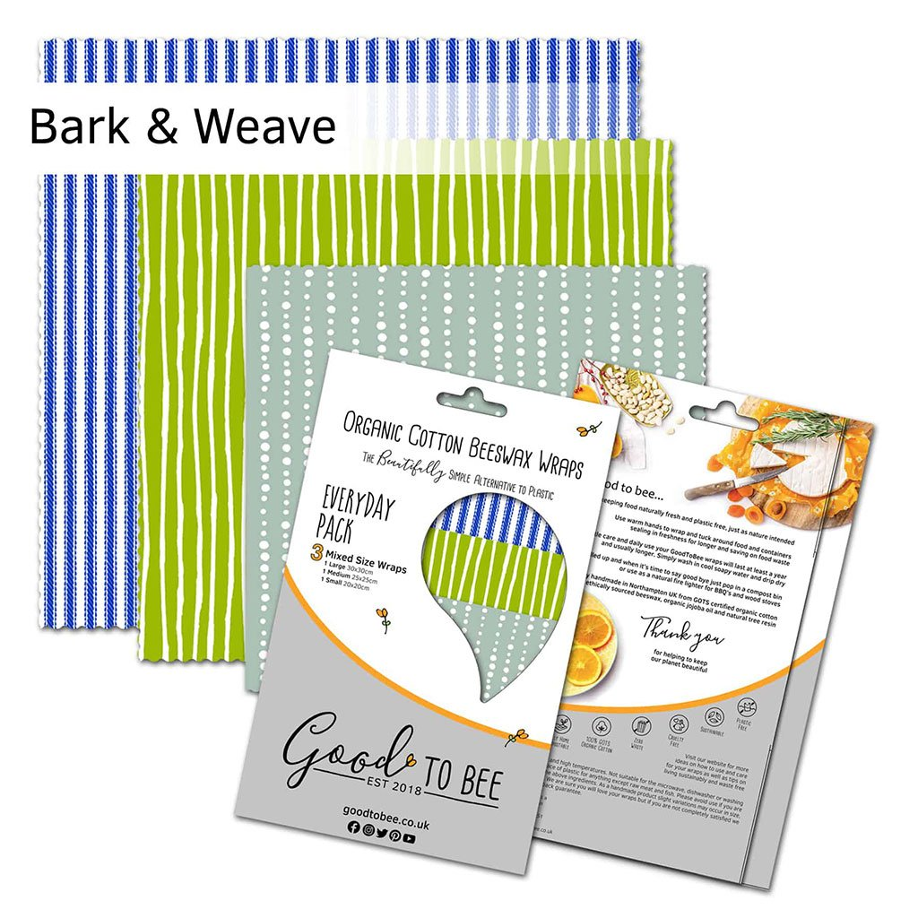 Organic Beeswax Reusable Food Wrap Pack Bark And Weave