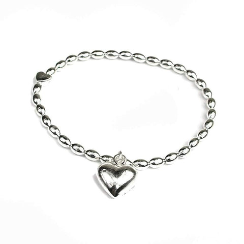 Puff Heart Bracelet with Heart Charm - insideout-home