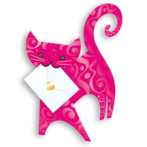 Ruby Cat Pop Up Card - insideout-home
