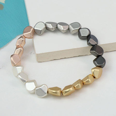 Mixed Metallic Multi Nugget Bracelet - insideout-home