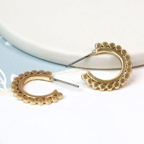 Gold Plated Cut-out Hoop Earrings - insideout-home