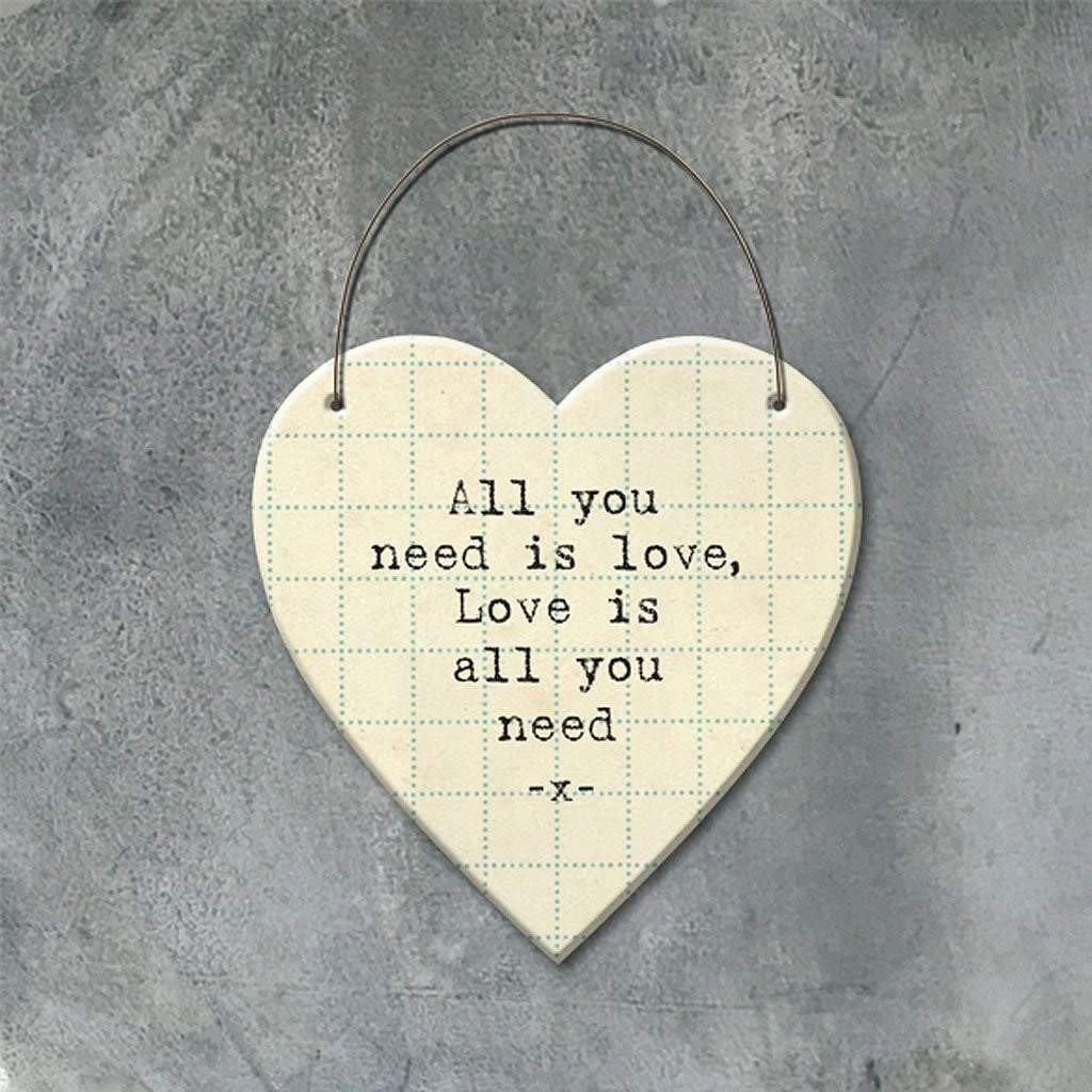 All You Need Is Love Hanging Heart by  Insideout