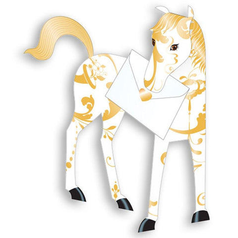 Magic Horse Pop Up Card - insideout-home