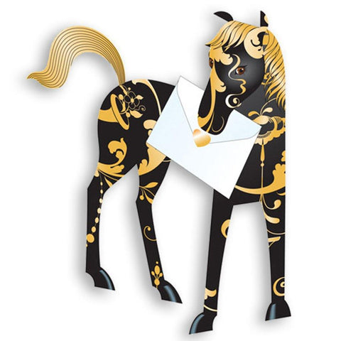 Midnight Horse Pop Up Card - insideout-home