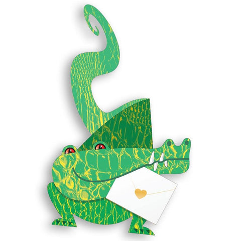 Harry Crocodile Pop Up Card - insideout-home