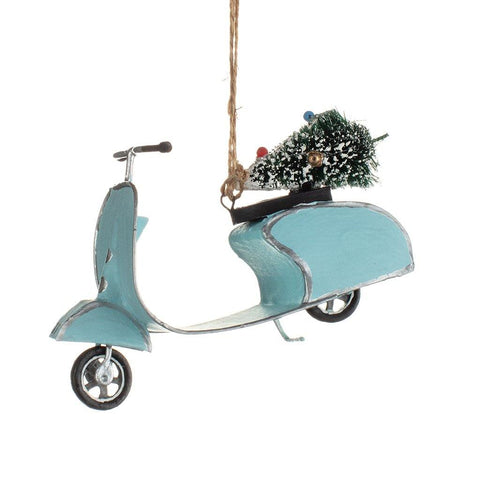 Mini Retro Scooter Xmas Decoration - insideout-home