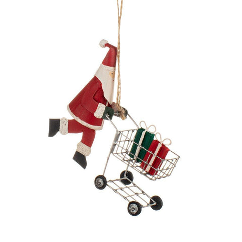 Shopping Santa Xmas Decoration - insideout-home