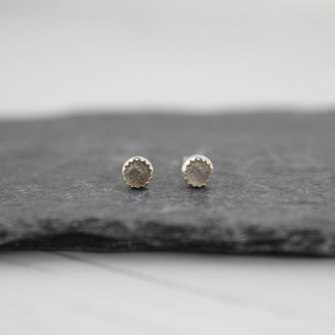 Sterling Silver Labradorite Mini Stud Earrings - insideout-home