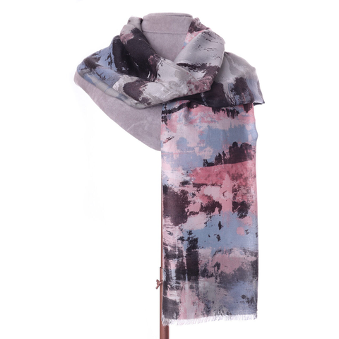 Pastel Abstract Print Scarf - Insideout