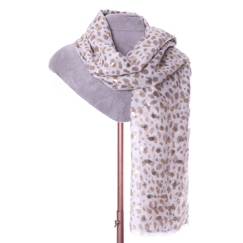 Golden Spotted Animal Print Scarf - Insideout