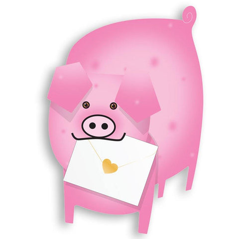 Piggy Pig Pink Pop Up Card - insideout-home