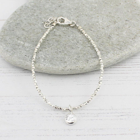 Sterling Silver Nugget Charm Bracelet - insideout-home