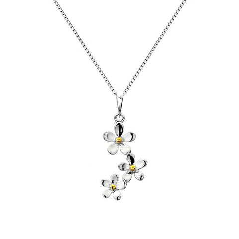 Daisy Chain Sterling Silver Neckalce - insideout-home