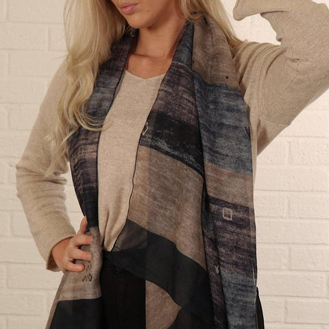 Navy & Grey Mottled Scarf - insideout-home