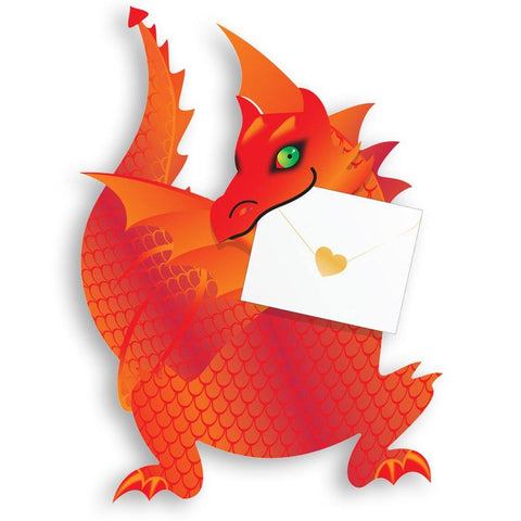 Flame Dragon Pop Up Card - insideout-home