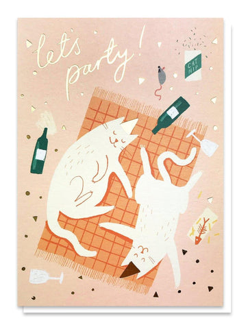 Party Cats Card - insideout-home