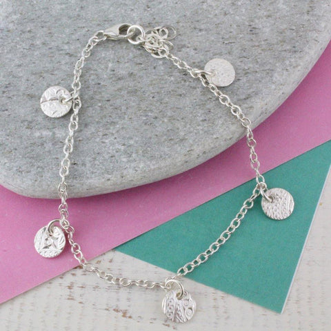 Sterling Silver Circle Charms Bracelet - insideout-home