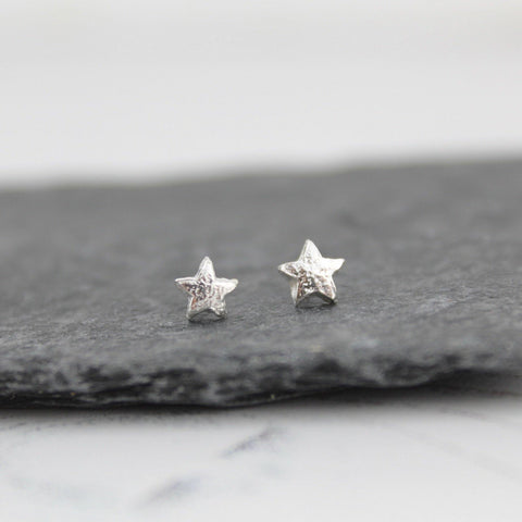 Silver Mini Star Studs - insideout-home