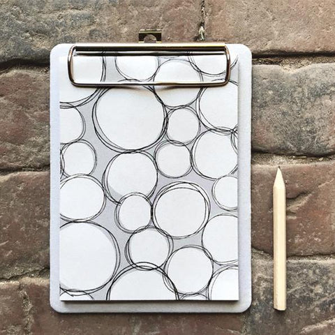 Small Clippy Pad White Bubbles - insideout-home