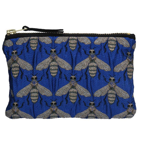 Blue Bee Jacquard Purse - insideout-home