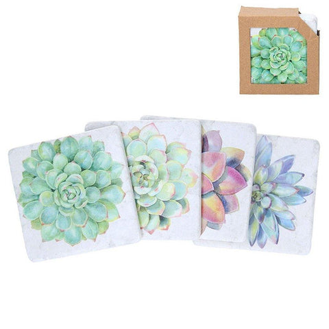 Set of 4 Succulent Coasters - insideout-home