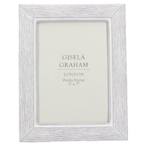 "White Washed Wood Effect Resin Picture Frame 7"" x 5"" - insideout-home"