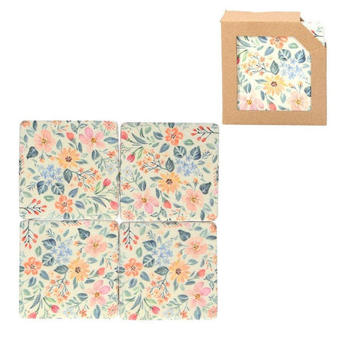 Set of 4 Vintage Floral Coasters - insideout-home