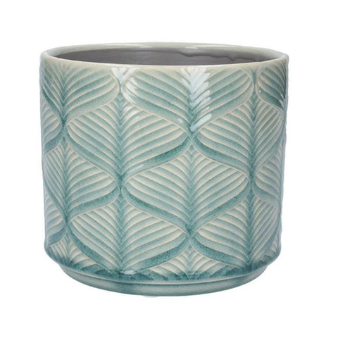 Turquoise Wavy Planter Pot Small - insideout-home