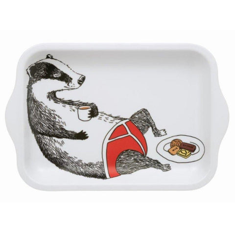 Jimbobart Badger In Pants Small Tray - insideout-home