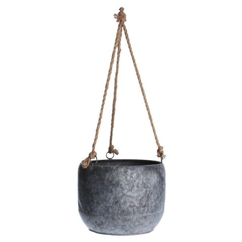 Galvanised Hanging Planter - insideout-home