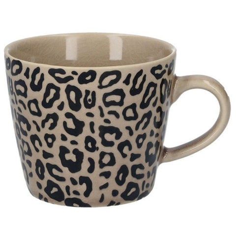 Taupe Animal Print Mug - insideout-home
