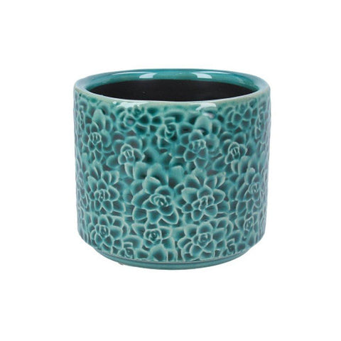 Teal Succultents Mini Pot - insideout-home