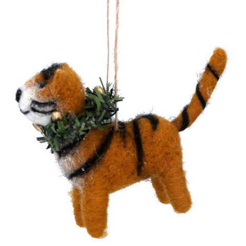 Tiger With Wreath Decoration - insideout-home