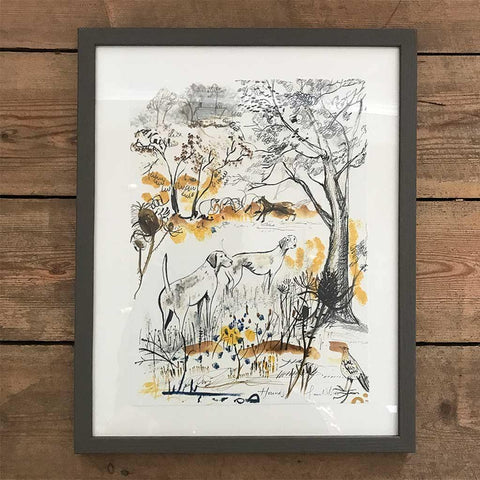 Hounds Framed Print - insideout-home