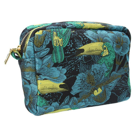 Toucan Jacquard Cosmetic Pouch - insideout-home