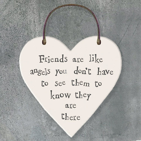 Friends Are Like Angels Heart Tag - insideout-home