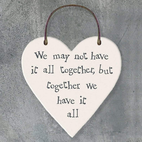We May Not Have It All Together Heart Tag - insideout-home