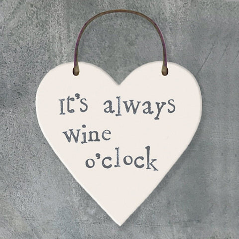 It's Always Wine O'Clock Heart Tag - insideout-home
