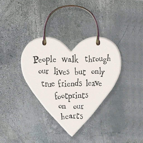 People Walk Through Our Lives Heart Tag - insideout-home