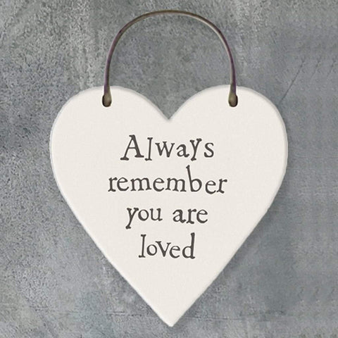 Always Remember You Are Loved Heart Tag - insideout-home