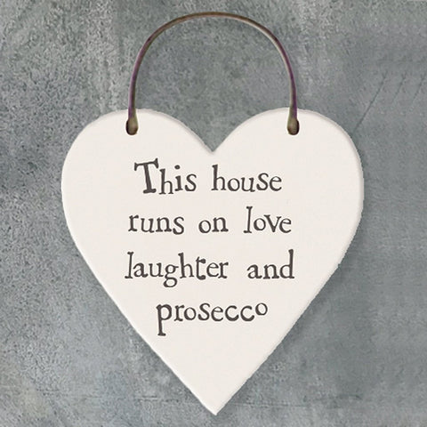 This House Runs On Love Heart Tag - insideout-home