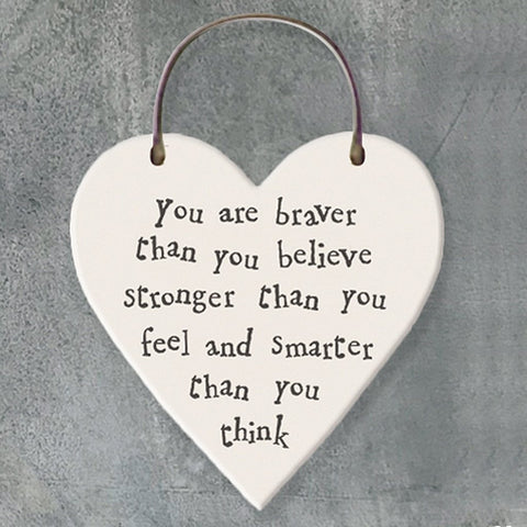Remember You are Braver Thank You Think Heart Tag - insideout-home