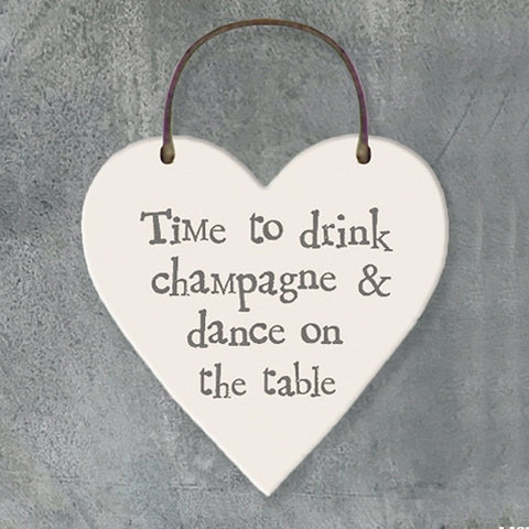 Time To Drink Champagne Heart Tag - insideout-home