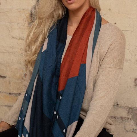 Sunburst Colourblock Print Scarf - insideout-home
