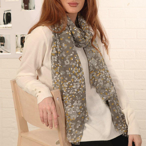 Mustard Animal Print Scarf - insideout-home