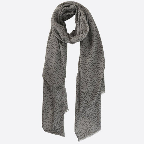 Grey Animal Print Scarf - insideout-home