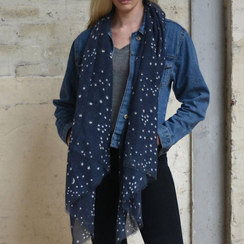 Moon & Stars Print Scarf - insideout-home